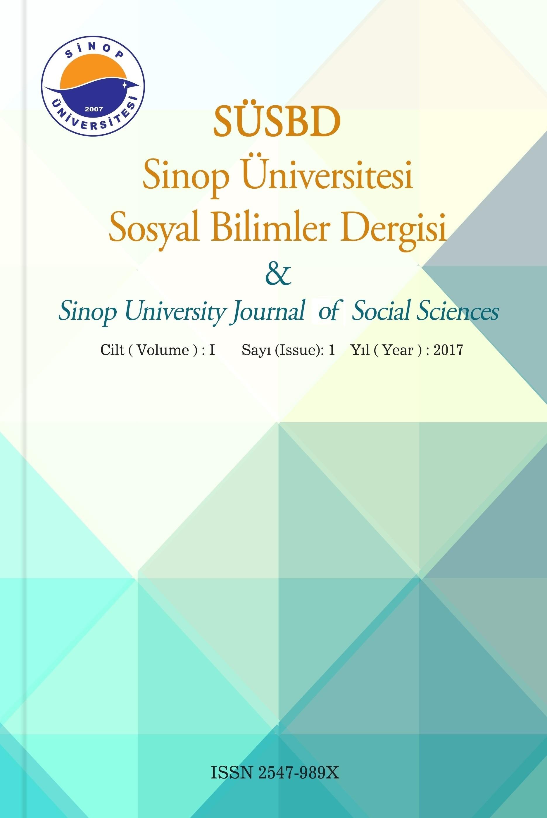 Sinop Üniversitesi Sosyal Bilimler Dergisi
