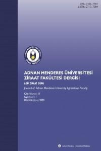Adnan Menderes Üniversitesi Ziraat Fakültesi Dergisi