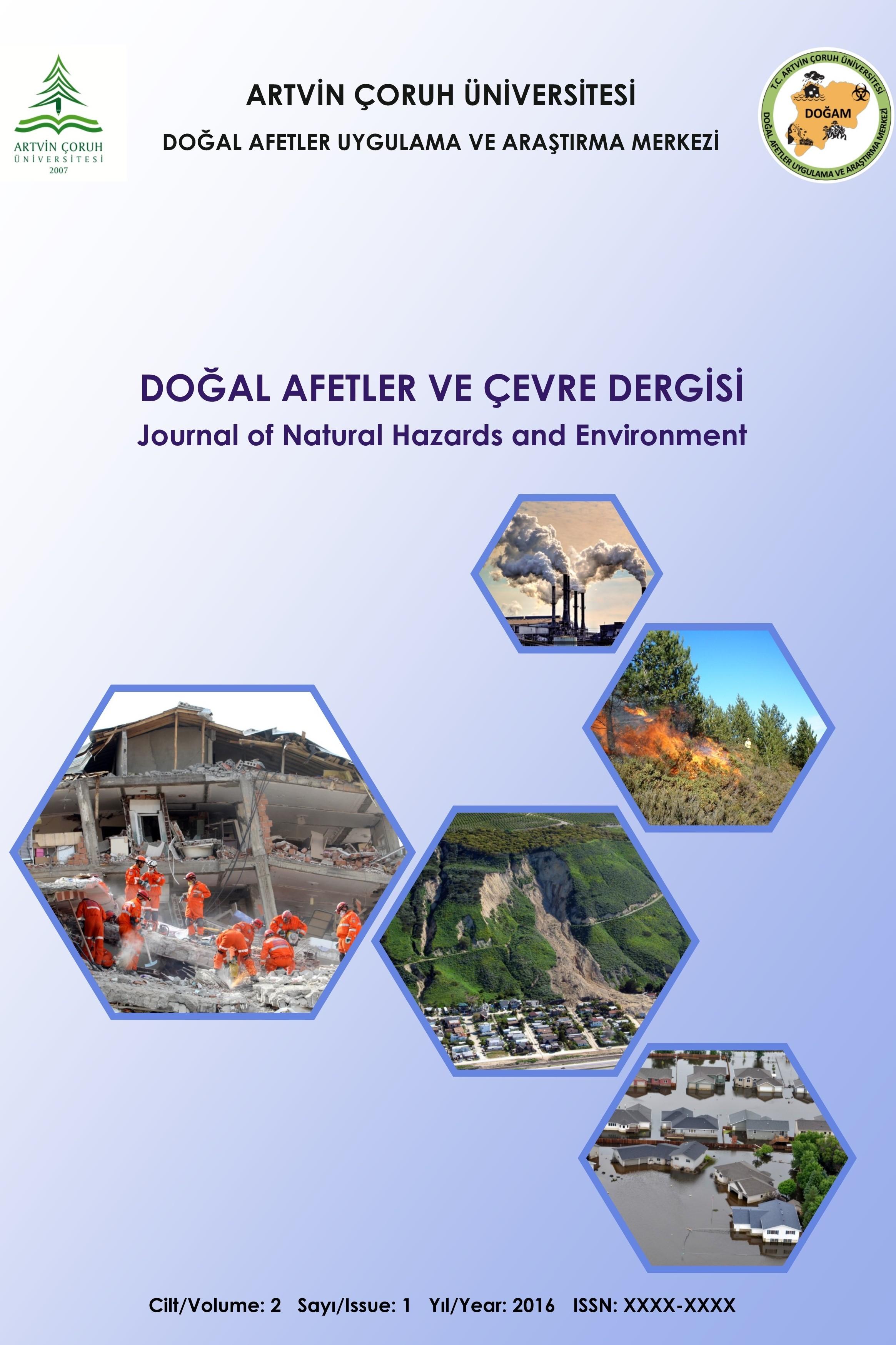 Doğal Afetler ve Çevre Dergisi