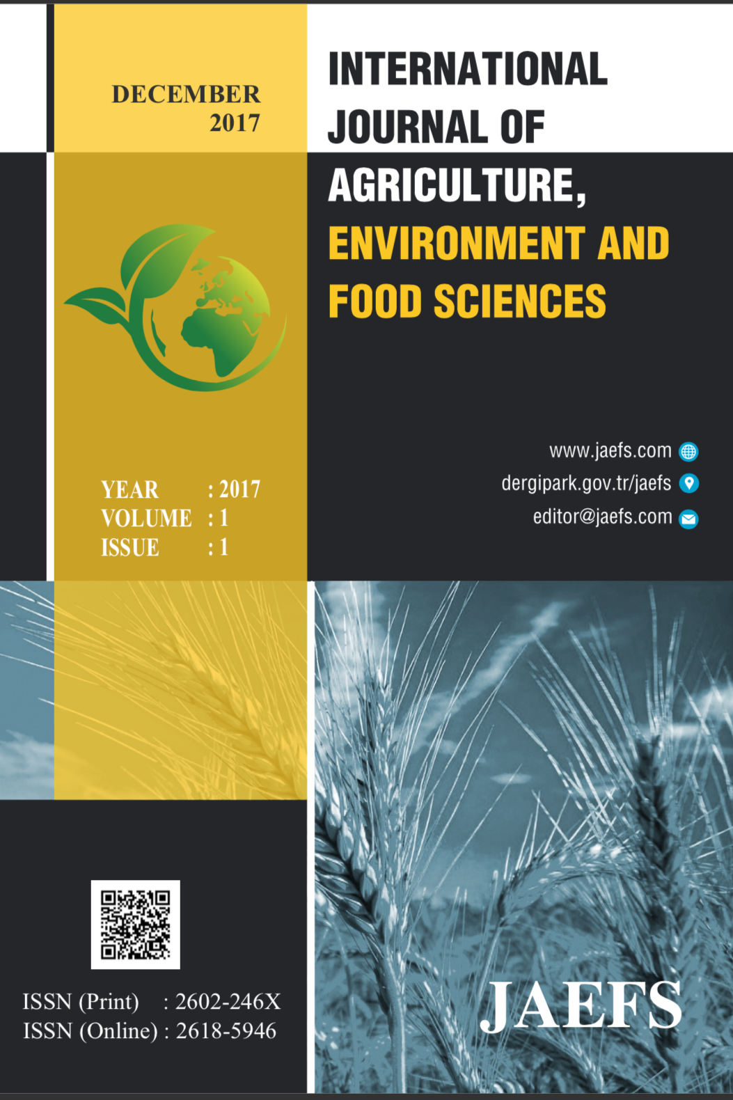 International Journal of Agriculture Environment and Food Sciences