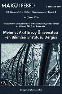 Mehmet Akif Ersoy Üniversitesi Fen Bilimleri Enstitüsü Dergisi